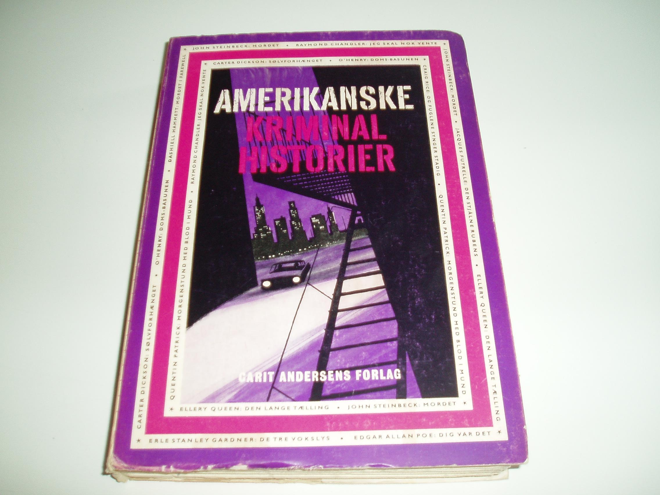 Amerikanske Kriminal historier. En Omnibus-bog