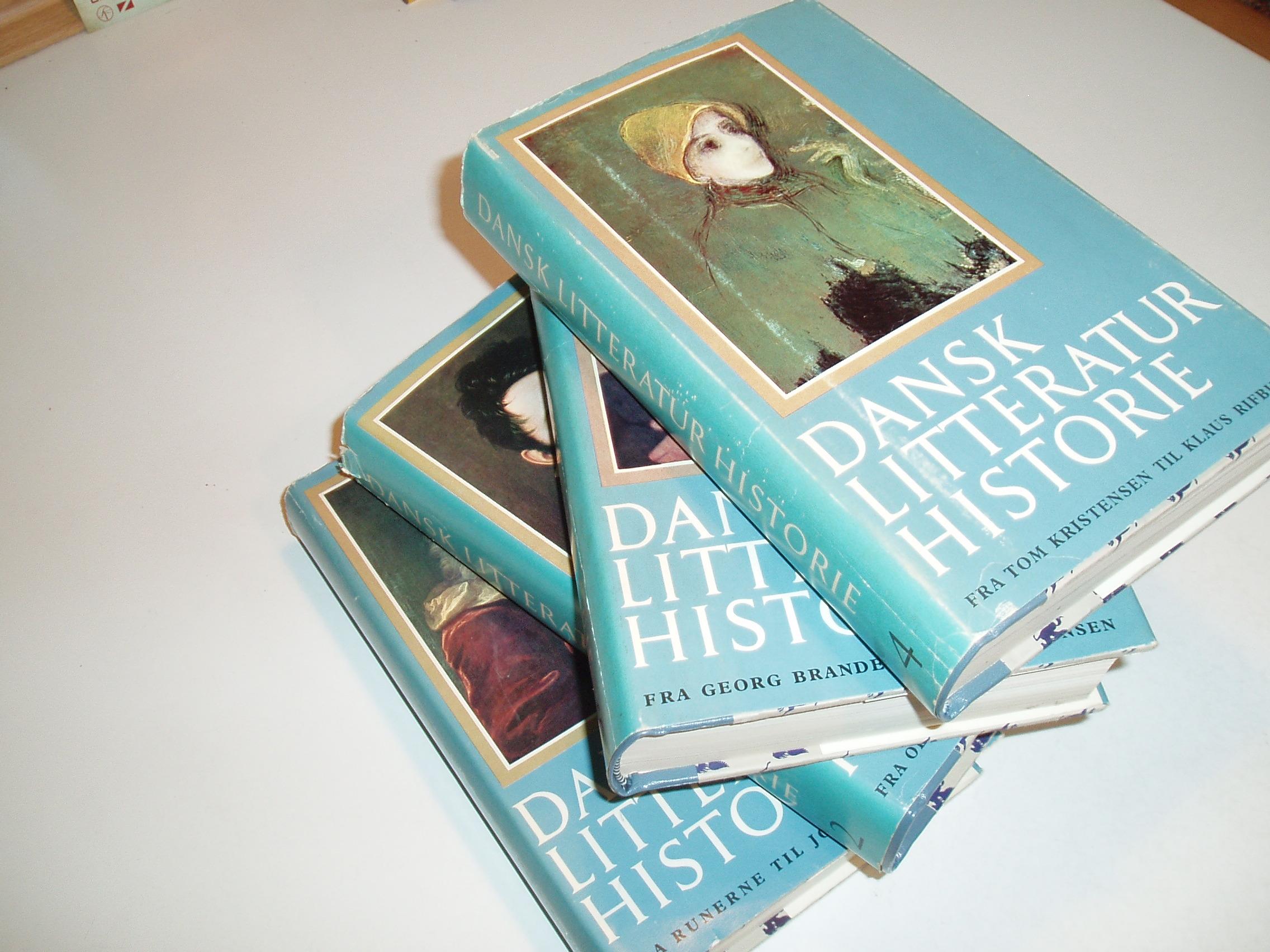 Dansk litteraturhistorie, bind 1-4. Vekslende forfattere. 2. udg