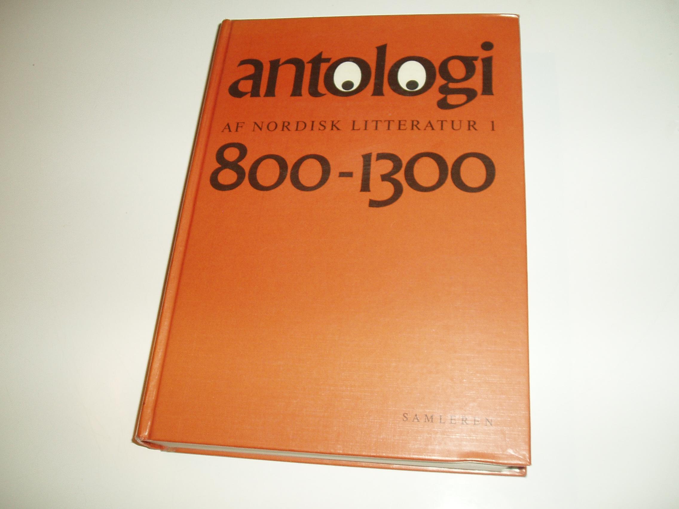 Antologi af nordisk litteratur, bind 1. Perioden 800-1300
