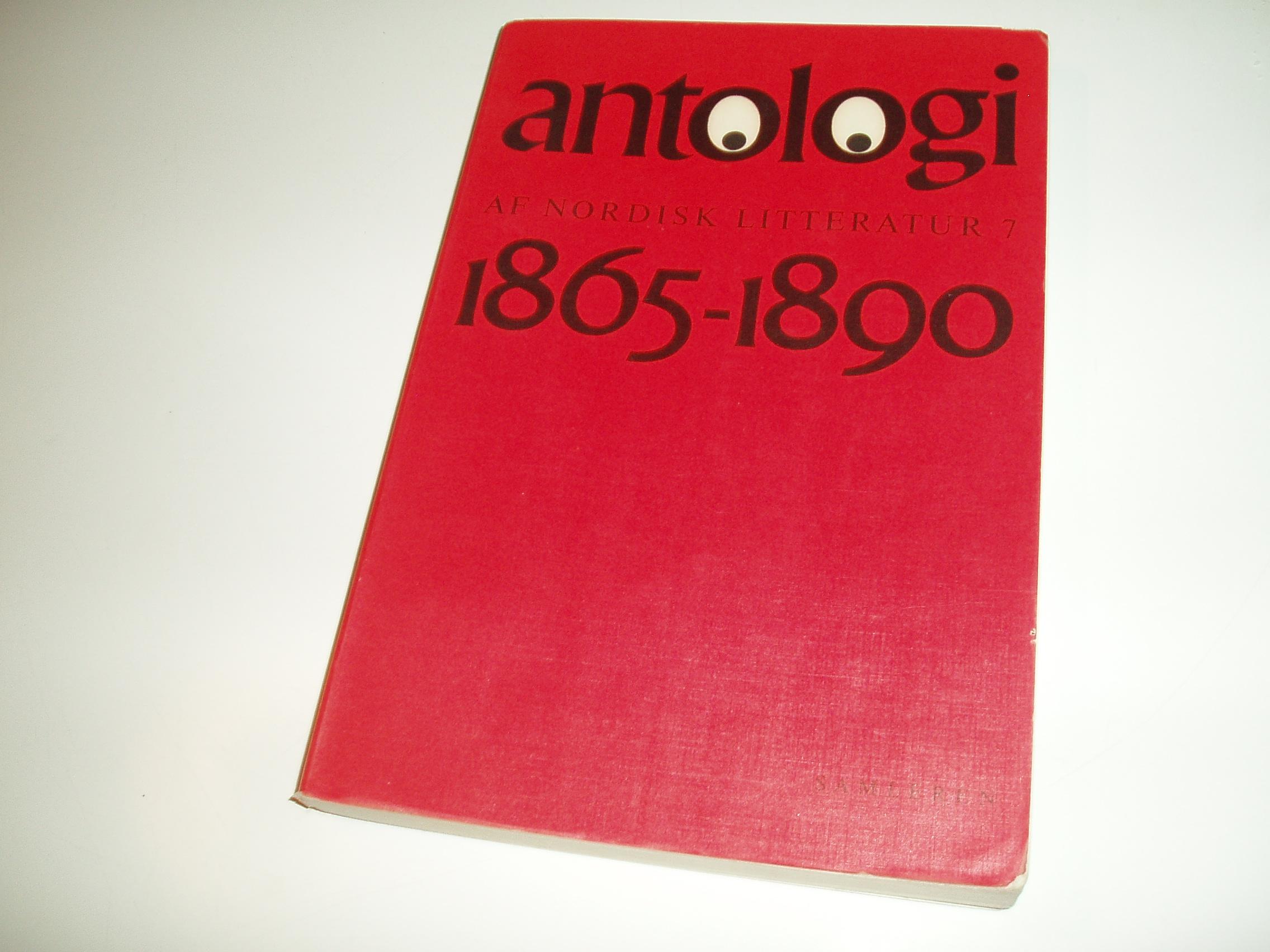 Antologi af nordisk litteratur, bind 7. Perioden1865-1890